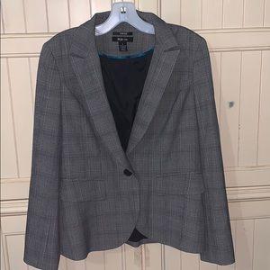 Style & Co Gray Stretch Blazer